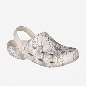 Clogs COQUI 1353 TINA Pearl blooming flowers