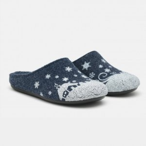 Slippers female Inblu VG-4D gray-blue